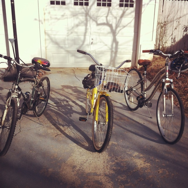 I got a new bicycle for Christmas (the one on the right!) and my mom, brother, and I took our bikes out for a spin on Saturday!